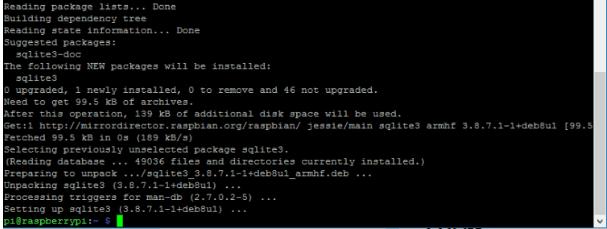 Installing Sqlite On Raspbian Operating System